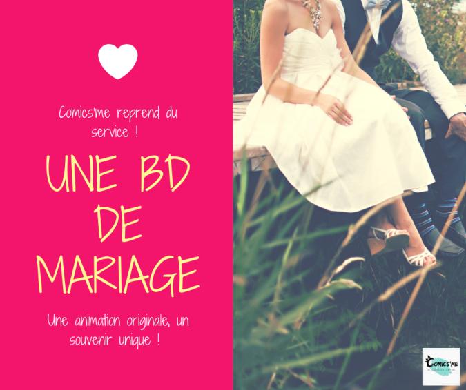 bd mariage à remplir comics'me